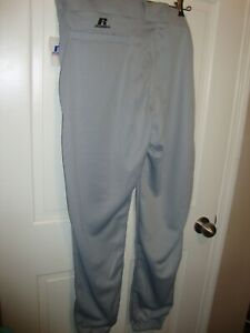 "NWT Russell Athletic X-Large Baseball Pants Grey 236DBMK  W40 x L30""  R15""   368"