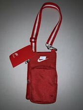 $45 NWT Nike Red Sport Small Items Crossbody Messenger Bag Unisex Fanny Shoulder