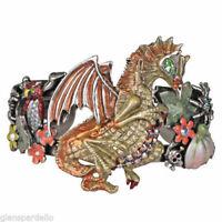Kirks Folly Harvest Dragon Cuff Bracelet  w424716ysa (silvertone) free ship