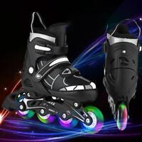 Inline Skate Rollerblade Adjustable Kids Roller Blades Inline Skates Light Up 01