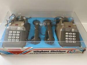 """Jouet Vintage Téléphone Électrique """"France Jouets"""" Garlin réf: 1083"""