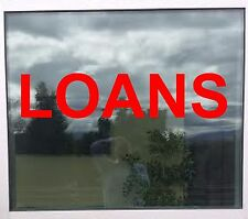 LOANS Business Store Sign Vinyl Decal Sticker Window Lettering 8in x 36 in