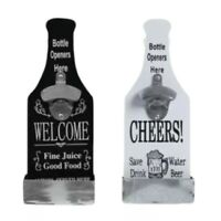 Stand Up Bar Bottle Opener & Catcher Crown Top Opener Wall Mounted UK SELLER
