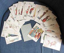 CARTES A JOUER rare ancien jeu de 53 cartes toutes illustrées de figures