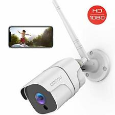 Security Camera Outdoor, COOAU 1080P Wireless Wi-Fi IP Surveillance CCTV Cameras