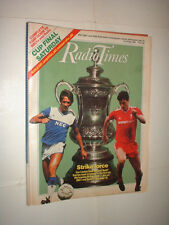 10/5 1986 RADIO TIMES MAGAZINE FA CUP FINAL LIVERPOOL v EVERTON WEMBLEY