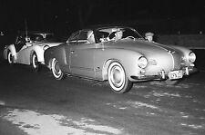 Vtg 1950s Black & White Photo - VW Karman Ghia Classic Car Show (California)