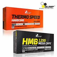 Thermo Speed Hardcore + HMB 60-180 Caps. Thermogenic Fat Burner Anticatabolic