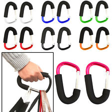 2 x Shopping Bag Carry Large Hook Buggy Mummy Clip Pram Pushchair Carabiner