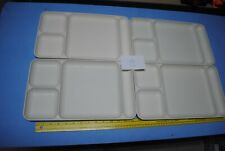LOT 4 Tupperware Divided / Cafeteria Style Lunch / Dinner Trays - Off White
