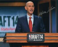 ADAM SILVER SIGNED AUTOGRAPH BASKETBALL NBA COMMISSIONER 8X10 PHOTO