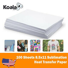 Koala 100 Sheets 8.5x11 Dye Sublimation Ink Heat Transfer Paper Mugs Fabrics