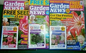 3 x Garden News Magazines  Jun 29, Dec 5 & Dec 12  2020 With Seeds  (new)
