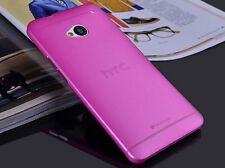 New Ultra Thin Pure Color Soft PC Matte Back Case Cover Skin For HTC One M7 801E