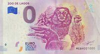 BILLET 0  EURO  ZOO DE LAGOS PORTUGAL 2018  NUMERO 1000