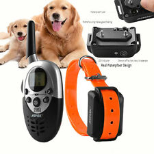 Pet Dog Easy Training Collar Rechargeable Waterproof 1000Yard Shock Vibra Remote