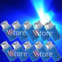 10 LED T10 CONCAVE BLU Lampade Lampadine Luci Posizione Fari e Targa W5 12V Blue