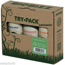 Try-Pack Outdoor BIOBIZZ Fertilizante 250ml Fish-mix Bio Bloom top-max, Exterior