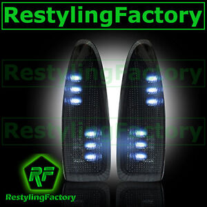 03-07 Super Duty Side Mirror Turn Lights WHITE LED SMOKE Lens Replacement Kit