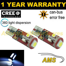 2x W5W T10 501 Can Bus Blanco Libre de Errores 5 SMD