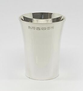Solid Sterling Silver Beaker Christening Cup - Brand New Heavy Quality