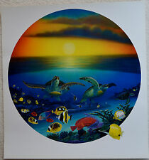WYLAND SEA TURTLE REEF LITHOGRAPH SIGNED #731/950 W/COA STUNNING