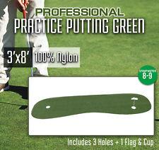 Professional Golf Synthetic Nylon Turf Practice Putting Green - 3 feet x 8 feet