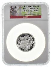 2013 5 oz Australia Koala High Relief PF69 Ultra Cameo NGC  .999 Silver