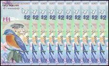Bermuda 2 Dollars X 10 Pieces - PCS, 2009, P-57, UNC