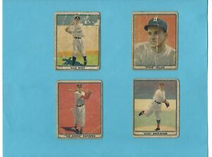 1941 Play Ball R336 Lot of 16 Different Baseball Cards - Low Grade to Vg/Ex
