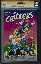 Critters #1 CGC 9.4 Signed with Sketch by STAN SAKAI Usagi Yojimbo TOP CENSUS