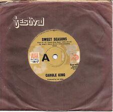 "CAROLE KING - SWEET SEASONS - 7"" 45 VINYL RECORD - 1971"