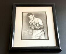 Rocky Marciano Boxing Champion Signed Autographed 8 x 10 Framed Photo