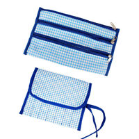 Circular Knitting Crochet Needle Hook Organizer Bag Holder Case Pouch Blue