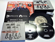 "NEU DEPECHE MODE WHERE´S THE REVOLUTION SPIRIT 2CD PIN BOX SET 7"" VINYL MAGAZINE"