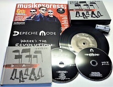 """NEU DEPECHE MODE WHERE´S THE REVOLUTION SPIRIT 2CD PIN BOX SET 7"""" VINYL MAGAZINE"""