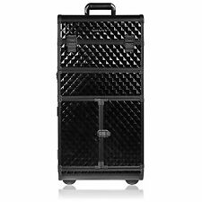 SHANY REBEL Series Pro Makeup Artists Rolling Train Case - Trolley Case - Cur...