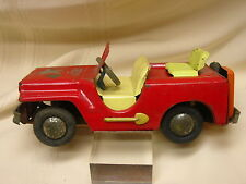 """Toy Jeep Friction Car Metal 7 1/4"""" Long Details"""