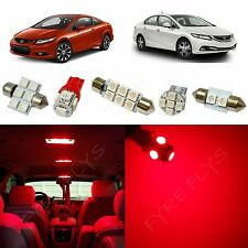 8x Red LED lights interior package kit for 2013 & up Honda Civic HC2R