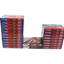 TDK D90 High Output Audio Cassette Tapes IECI Type 1 Sealed Lot of 21