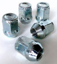 Set of 5 x M12 x 1.5, 21mm Hex, taper Car wheel nuts lugs bolts