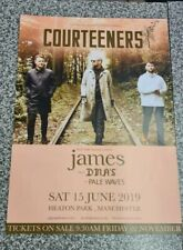 More details for courteeners 2019 concert posters lot of two. mint condition.