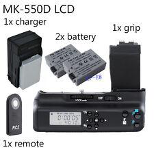 Meike LCD Battery Grip For Canon 550D 600D 650D 700D BG-E8 +2x LP-E8