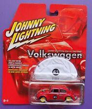 Johnny Lightning Volkswagen 1965 Beetle Rallye #22 Bonus Mini Car Cover Diecast