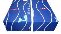 Tischdecke Tischläufer maritim blau Meer modern Stoff 130 x 40 cm