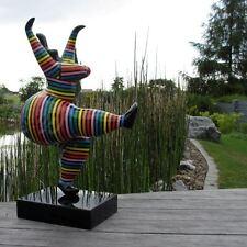 NANA 77 cm mit KUNSTBEMALUNG bunte STREIFEN KUNST FIGUR GARTEN DEKO Skulptur ART