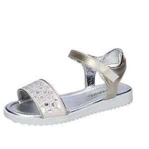 scarpe bambina FIORUCCI sandali oro pelle sintetica strass BK499