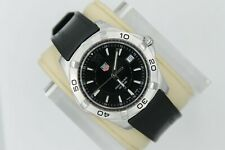 Tag Heuer WAF1110.FT8009 Silver Black Aquaracer Watch Mens 300M SS Rubber Band