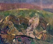 """Russischer Realist Expressionist Öl Leinwand """"Berge"""" 60x50 cm"""