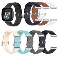Replacement Leather Strap Wristwatch Band Strap for FitbitVersa3/Sense Watch